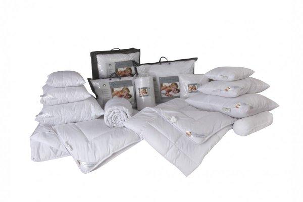 Antyalergiczna poduszka pikowana 50x60 cm z zamkiem Sensidream dla skóry wrażliwej
