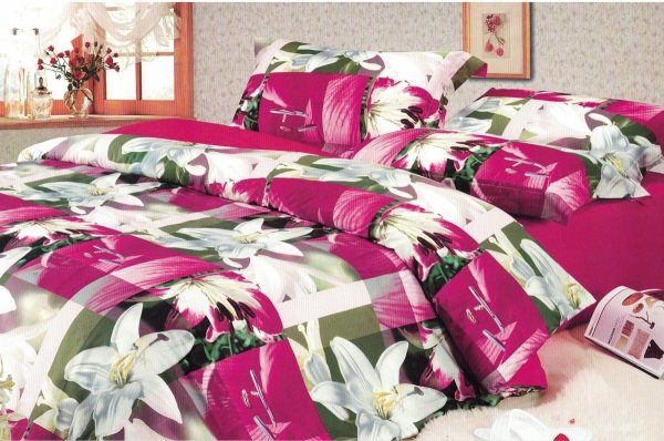 Pościel 3D 160x200 Cotton World Kwiaty 100% bawełna