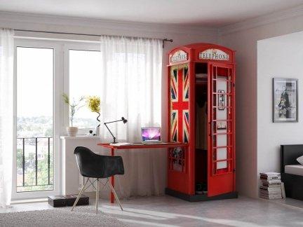 Szafa z biurkiem angielska budka telefoniczna