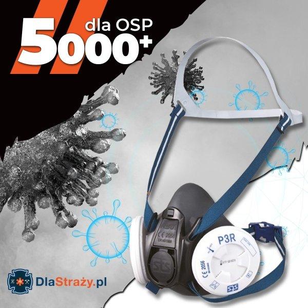 Zestaw 9. Kominiarka Viking NanoFlex + półmaska Shigematsu RS01 z dwoma zestawami filtrów - 10 kpl.