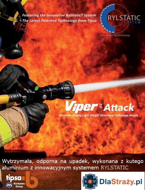 Prądownica wysokociśnieniowa wodno-pianowa TIPSA Viper Attack 1560