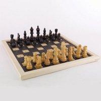 Drewniane szachy dotykowe
