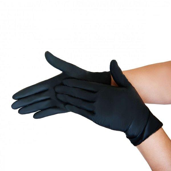Rękawiczki jednorazowe nitrylowe 100szt. ROZMIAR S