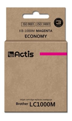 Tusz ACTIS KB-1000M (zamiennik Brother LC1000M/LC970M; Standard; 36 ml; czerwony)
