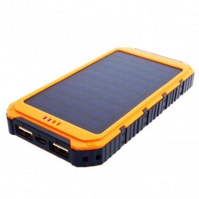 Ładowarka solarna PowerNeed S6000Y (6000mAh; USB; kolor pomarańczowy)