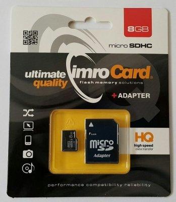Zestaw kart IMRO 4/8G ADP (8GB; Class 4; + adapter)