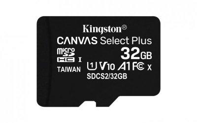 Kingston Technology Canvas Select Plus pamięć flash 32 GB MicroSDHC Klasa 10 UHS-I