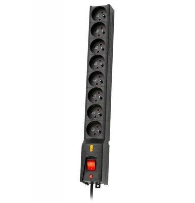 Listwa przeciwprzepięciowa Lestar LX 810 G-A 1,5m (8 x UTE; 10 A; 1,5m; kolor czarny)
