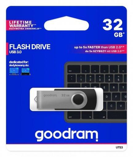 Pendrive GoodRam Twister UTS3-0320K0R11 (32GB; USB 3.0; kolor czarny)