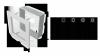 KRATKA kominkowa OSKAR 11x24 czarno-srebrna