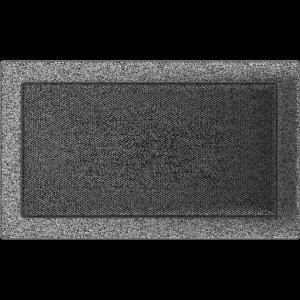 KRATKA kominkowa 22x37 czarno-srebrna