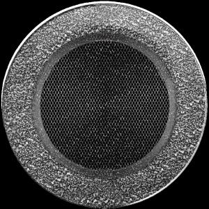 KRATKA kominkowa okrągła czarno-srebrna  fi 150