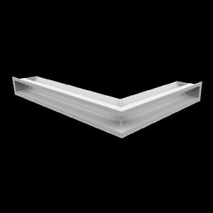KRATKA kominkowa LUFT narożny lewy biały 76,6x54,7x9