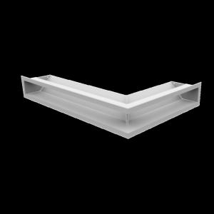 Kratka kominkowa LUFT narożny lewy biały 60x40x9