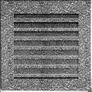 KRATKA kominkowa FRESH  czarno-srebrna 17x17