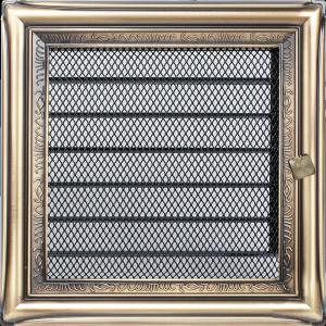 KRATKA kominkowa galwaniczna 17x17 rustykalna z żaluzją