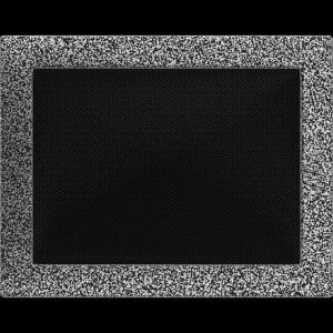 KRATKA kominkowa 22x30 czarno-srebrna
