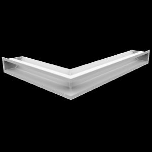 Kratka kominkowa LUFT SF narożny prawy biały 54,7x76,6x9
