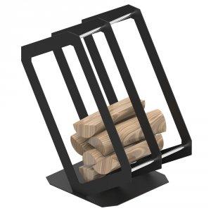 Stojak na drewno P3 czarny mat