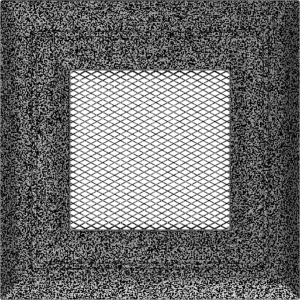 KRATKA kominkowa OSKAR 11x11 czarno-srebrna