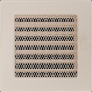 KRATKA kominkowa 17x17 kremowa z żaluzją