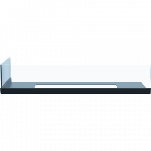 Przeszklenie biokominka DELTA 600 lewy