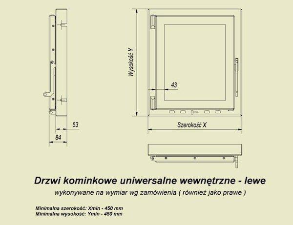 DRZWICZKI front stalowy na zamówienie cena za 1cm2