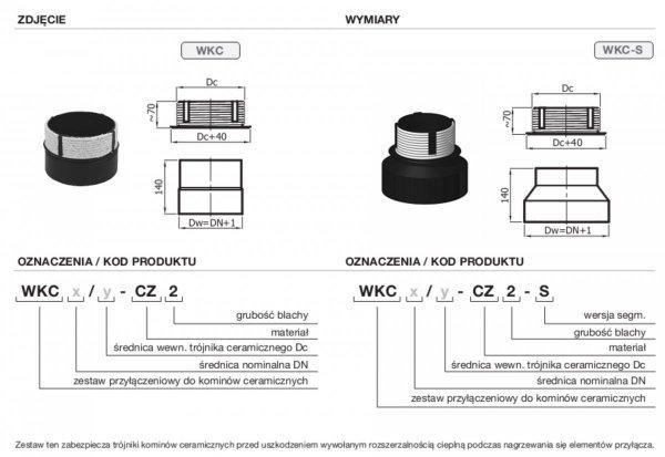 Wkładka do komina ceramicznego DN 160mm