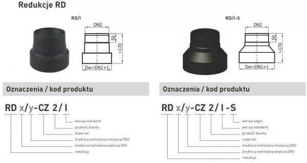Redukcja zmniejszająca z rury DN1 300mm