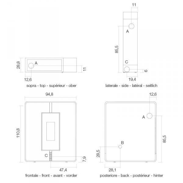 Piec na pellet Tile3 Air Plus 10 kW - Cadel
