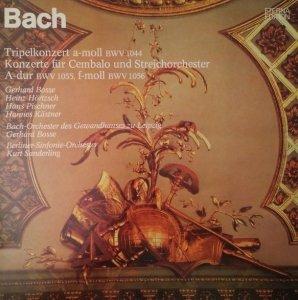 Bach - Gerhard Bosse, Heinz Hörtzsch, Hans Pischner, Hannes Kästner, Bach-Orchester des Gewandhauses zu Leipzig, Berliner-Sinfonie-Orchester, Kurt Sanderling - Cembalokonzerte BWV 1055, 1056 - Tripelkonzert BWV 1044 (LP) (LP)