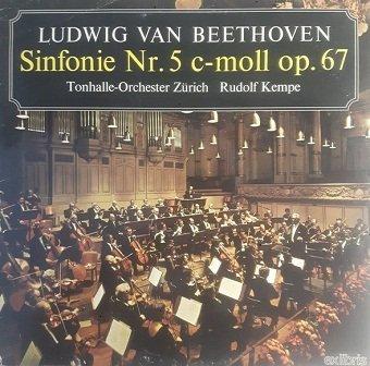 Ludwig van Beethoven - Tonhalle-Orchester Zürich, Rudolf Kempe - Sinfonie Nr. 5 C-moll Op. 67 (LP)