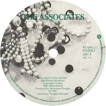 Associates - 18 Carat Love Affair / Love Hangover (7'')