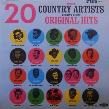 20 Great Country Artists Singing Their Original Hits (LP)