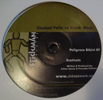 Ciudad Feliz vs. Konk West - Peligroso Bikini EP (12'')