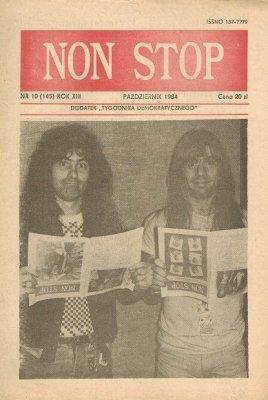 Non Stop 10 (145) Październik 1984 Steve Harris I Bruce Dickenson