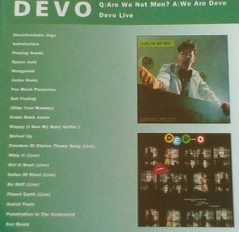 Devo - Q: Are We Not Men? A: We Are Devo / Devo Live (CD)