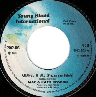Mac & Katie Kissoon - Change It All (Piazza San Babila) (7'')