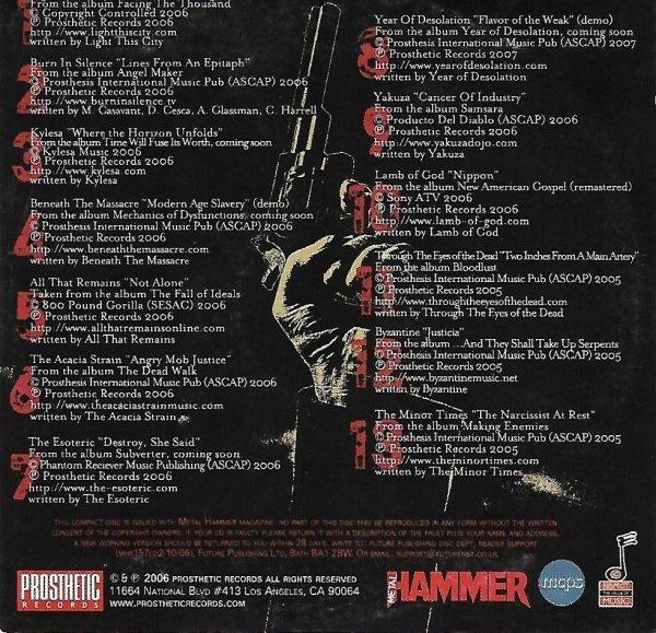 Metal Hammer Present The Prosthetic Records Sampler (CD)