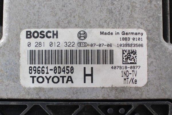 Komputer silnika stacyjka immo - Toyota - Yaris - zdjęcie 4