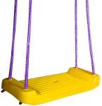 Ogrodowa HUŚTAWKA dla Dzieci DESKA Plastikowa Żółta