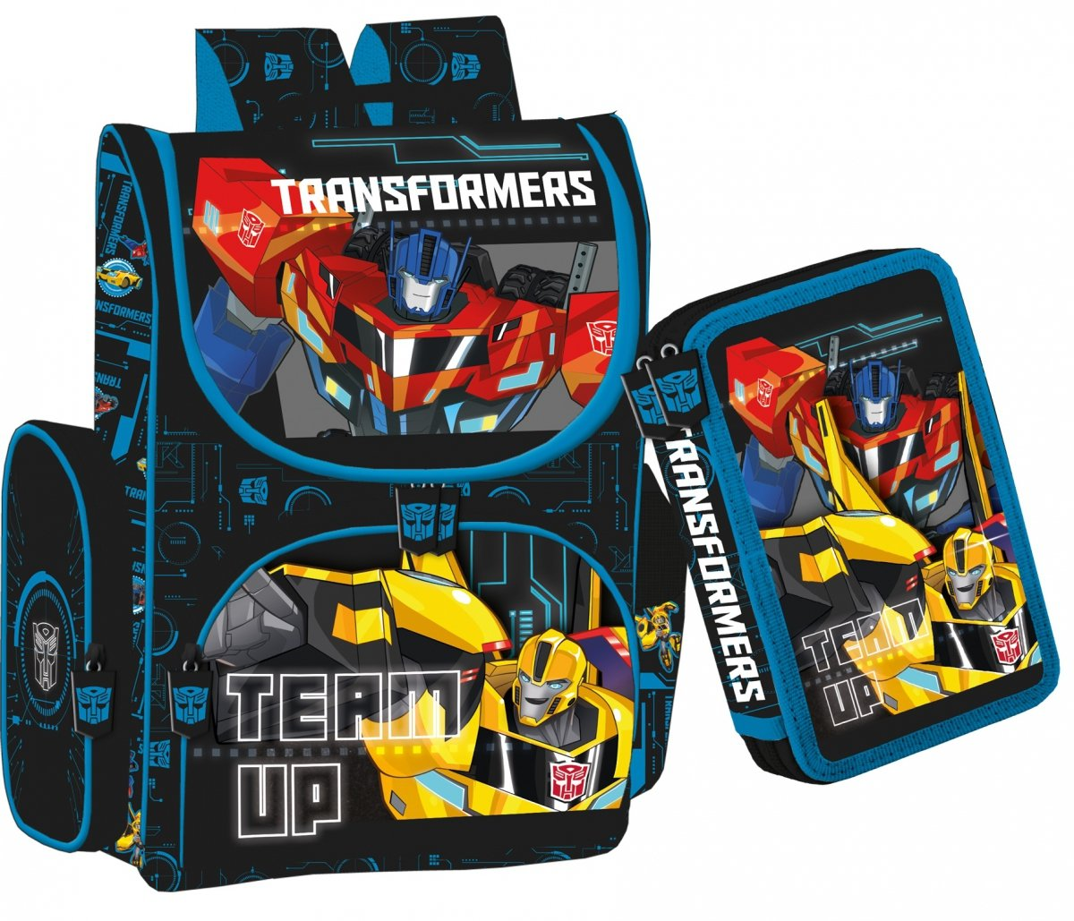 3b3ddc580534b Transformers TORNISTER Szkolny + Piórnik ZESTAW - Tornistry ...