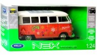 1963 VOLKSWAGEN T1 BUS LOVE Auto METAL MODEL Welly 1:24