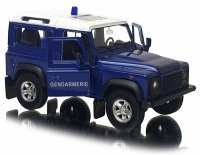 LAND ROVER DEFENDER GENDARMERIE Model Welly METALOWY 1:34