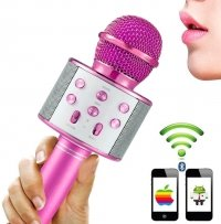 Mikrofon KARAOKE Głośnik Bluetooth ROSE Android IOS