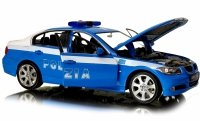 BMW 330i POLIZIA Auto Welly METALOWY MODEL 1:24