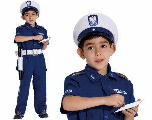 Strój POLICJANT 4w1 DROGÓWKA Karnawałowy 152 Kinderbal