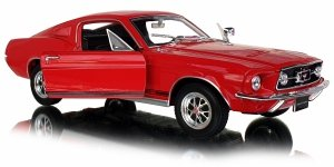 1967 FORD MUSTANG GT Auto Metal Welly 1:24