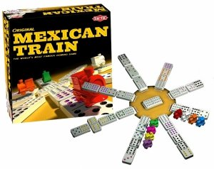 MEXICAN TRAIN Gra DOMINO Układanka TacTic