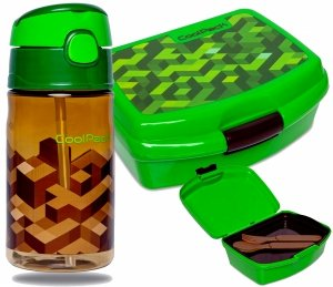 BIDON 400ml Śniadaniówka City Jungle MINECRAFT CoolPack ZESTAW 2w1